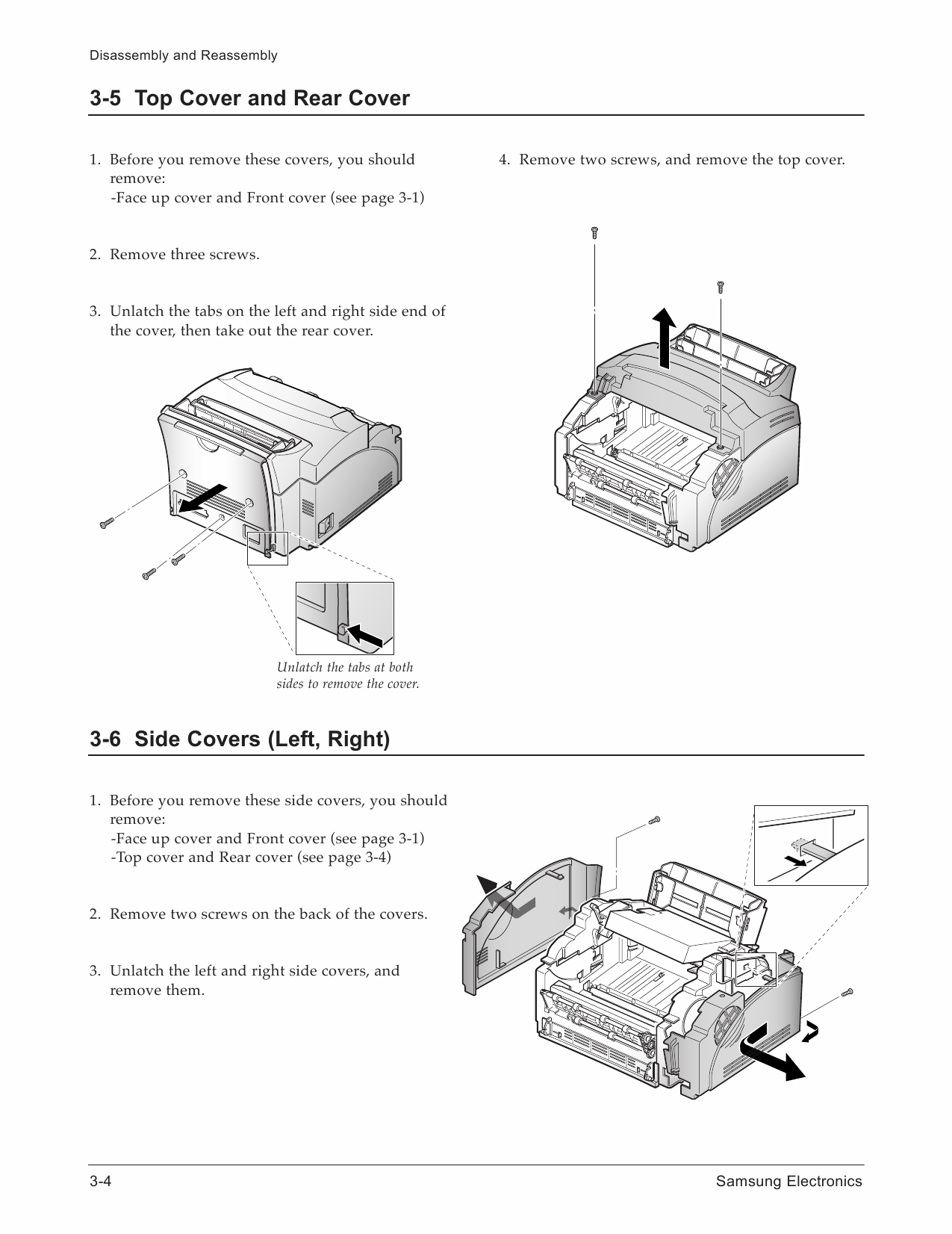 Samsung Laser Printer Ml A Parts And Service Manual